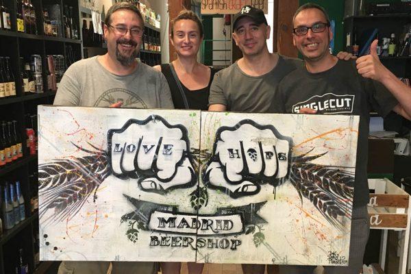 Logotipo en lienzo para La Buena Cerveza - Madrid by Danieru San