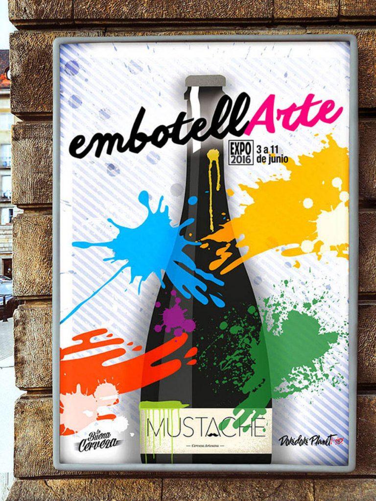 EmbotellArte 2016, Cartel. Fue la primera exposición de arte donde los lienzos eran botellas.