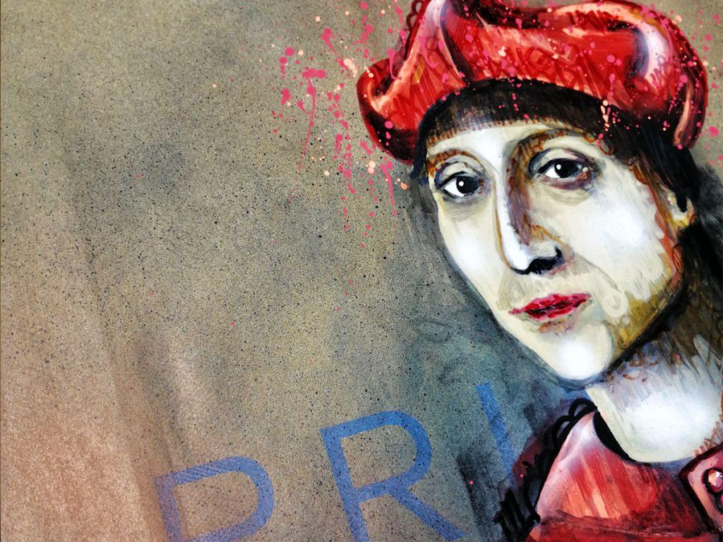 Certamen Paul Ricard, detalle de propuesta inovadora Sacro Graffiti de Danieru San