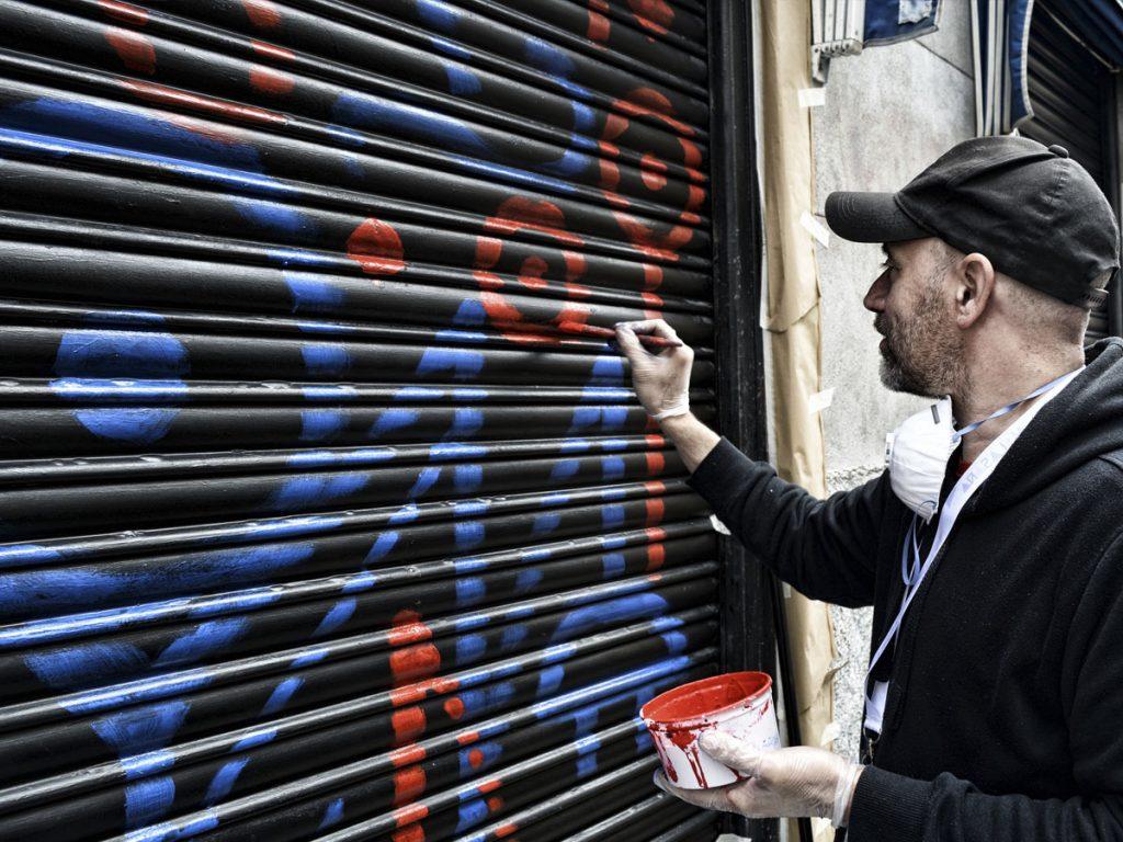 Danieru San graffiti, pop art, arte contemporáneo.